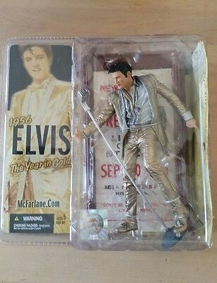 2005 McFarlane ELVIS PRESLEY 1956 The Year In Gold Action Figure BRAND NEW