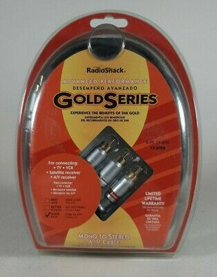 Radio Shack Advanced Performance Gold Series 6-FT A/V Cable with S-Video Advanced A/v Cable