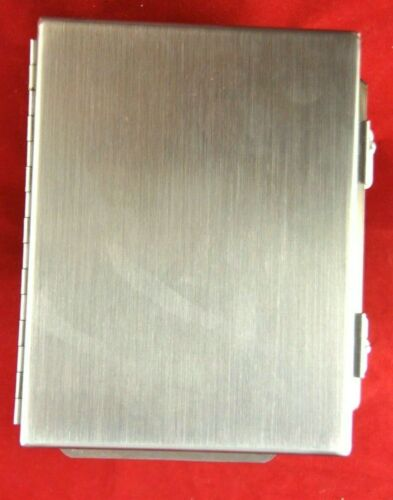 """NEW HOFFMAN A8064CHNFSS STAINLESS STEEL ENCLOSURE 8"""" L X 6"""" W X 4"""" D NO PLATE"""