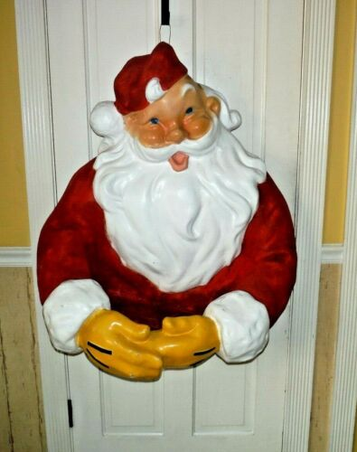 """Antique Paper Mache Santa Clause Christmas Store Wall display Large 38x 30x 20"""""""