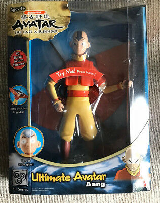 "AVATAR THE LAST AIRBENDER 10"" ULTIMATE AVATAR AANG ACTION FIGURE NICKELODEON NEW for sale  York Haven"
