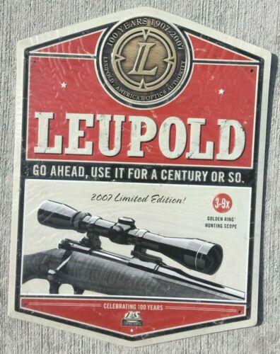 Metal Leupold Gold Ring Dealer Optics Sign Advertising 100 years-2007 Limited