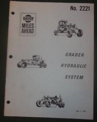 Galion Dresser Grader Crane Hydraulic System Service Maintenance Manual