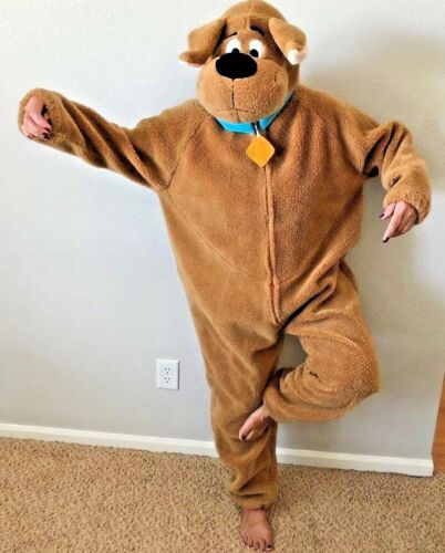 """Adult Size 54"""" (ankle to shoulder) Scooby-Doo Comic Dog Costume Warner Brothers"""
