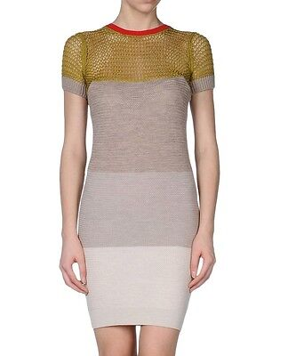 McQ by Alexander Mcqueen knitted dress cotton wool short sleeves size Small