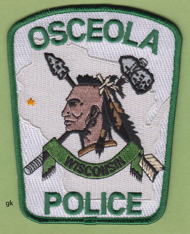 OSCEOLA  WISCONSIN  POLICE SHOULDER  PATCH indian