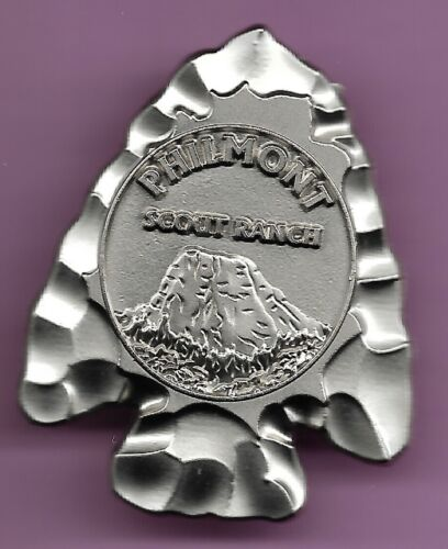 PHILMONT SCOUT RANCH*ARROWHEAD HAT PIN * TOOTH OF TIME 1 1/2 INCH BY 1 3/4 INCH