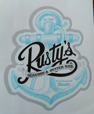 fd39c647 RUSTY'S Seafood & Oyster Bar Cape Port Canaveral, Florida; Blue & Gray  Anchor