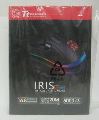 Thermaltake Iris Optical RGB MO-IRS-WDOHBK-04 Wired USB Optical Gaming Mouse