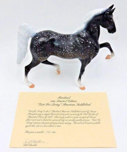 "HARTLAND BLACK DAPPLE SADDLEBRED ""ZEST FOR LIVING"" HORSE #193 OF 200 WITH COA"