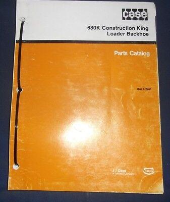 Case 680k Ck Construction King Loader Backhoe Parts Book Manual
