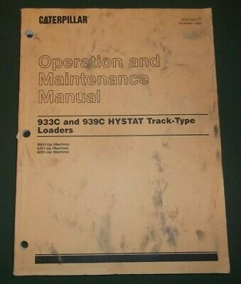 Cat Caterpillar 933c 939c Track Loader Operation Maintenance Book Manual