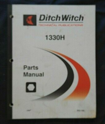 2002-2008 Ditch Witch 1330 1330h Trencher Parts Catalog Manual Very Good Shape