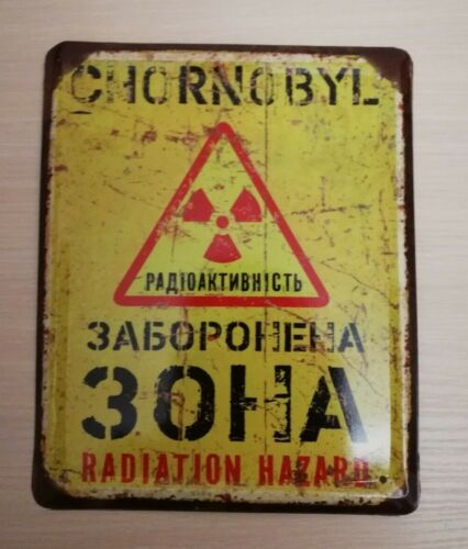 New nameplate decor Chernobyl LIQUIDATOR USSR Union Nuclear Tragedy 1986 ( 3 )