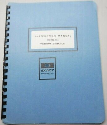 Dana Exact Electronics Manual Model 126 Waveform Generator