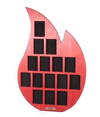 Zippo Display Holzflamme für 15 Feuerzeuge, Stand Display aus Holz 58cm x 38cm