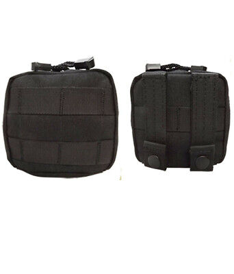 BLACK Molle 4 x 4 Pals Utility Pouch Accessory Tool Carrier Pocket Bag Small