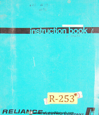 Lodge Shipley 30 40 50 Lathes Instructions Operation Maintenance Wiring Manual