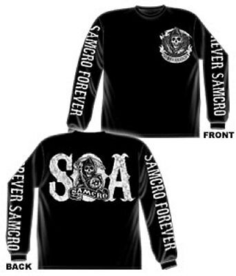 Officially Licensed Samcro Forever   Sons Of Anarchy Long Sleeve Adult T Shirt