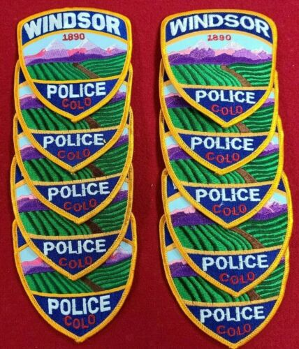 WINDSOR COLORADO CO Trade Stock 10 police patches POLICE PATCH