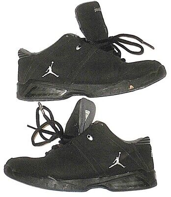 Nike Air Jordan Basketball Sneakers Suede Black White Kids Youth Boys Size 3