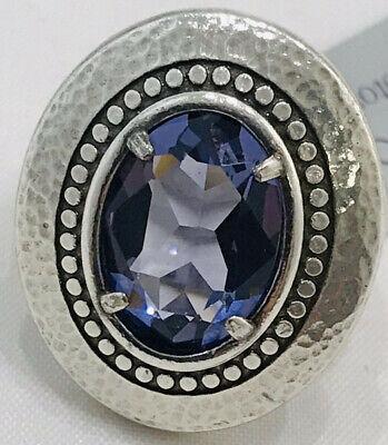Brighton Your True Color GRATEFUL Purple Silver Ring Size 9 NWT