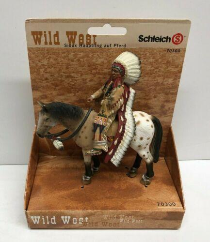 Schleich Wild West 70300 Sioux Chief on Horse ** Brand New / Retired