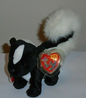 Ty 2.0 Beanie Baby - SKUNKERS the Skunk (6 Inch) MINT with MINT TAGS