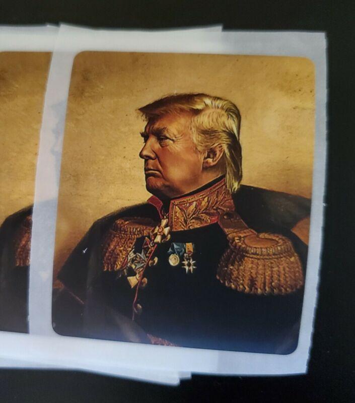 General Emperor Donald Trump Funny Political Sticker Napoleon Bonaparte Parody