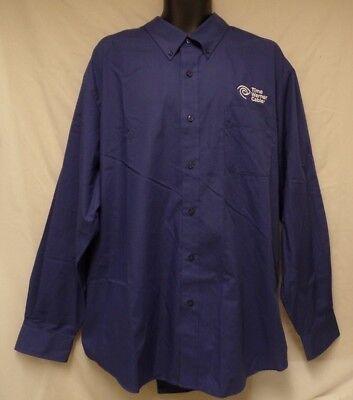Nwot Time Warner Cable Blue Uniform Shirt Button Down Long Sleeve Mens 3Xl Xxxl