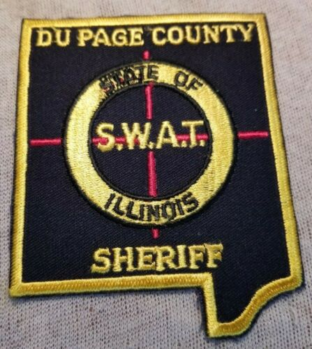 IL Du Page County Illinois SWAT Sheriff Patch