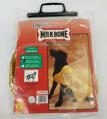 Rubies Milk-Bone treats biscuits Pet dog  Halloween Costume gold color medium  - Halloween Dog Treats Biscuits