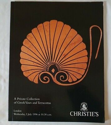 christies catalogue A PRIVATE COLLECTION OF GREEK VASES AND TERRACOTTAS JY96 ++