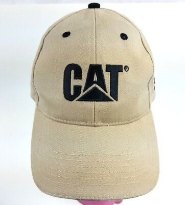 CAT Caterpillar Cap Hat Tan 60th Anniversary Peoria Proving Grounds Trucker