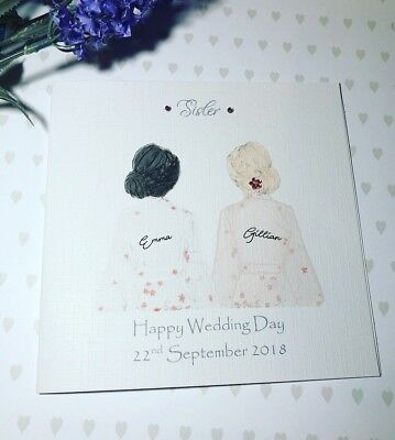 Beautiful Wedding Day Handmade Card for Best Friend/ Sister/ cousin etc