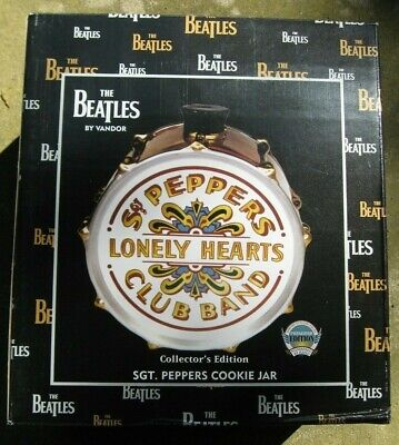 Beatles Collector's Edition Sgt Peppers Cookie Jar by Vandor - New in Box