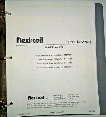 Flexi Coil 55 65 65xl 65xlt Field Sprayer Service Repair Workshop Shop Manual