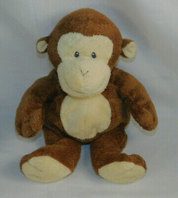 Ty Baby Pluffies Brown Monkey Plush Sewn Eyes  2007 Stuffed Animal Toy