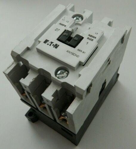 EATON AN19DN0 27A 120V NEMA Size 1 Magnetic Motor Starter