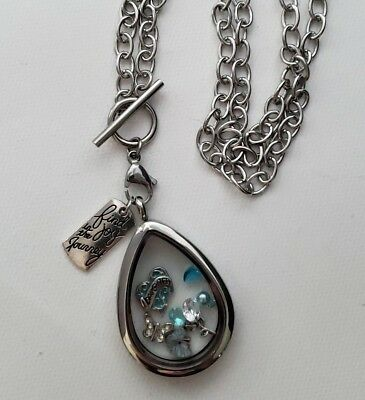 Tear Drop Floating Locket + 20