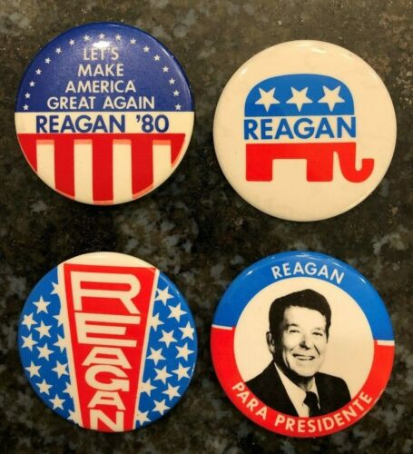 MAGA /'Let/'s Make America Great Again/' 1980 Ronald Reagan Campaign Flyer Uncirc.