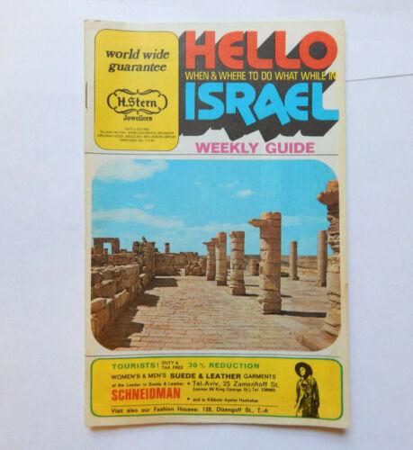 Israel Tel Aviv Weekly Guide (Oct 8, 1974)