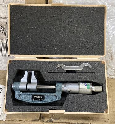 Mitutoyo Caliper Type Micrometer 0-1 143-121 Machinist Tool Maker Box Find