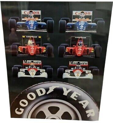 RARE Goodyear Canon Marlboro Ferrari Formula One Poster