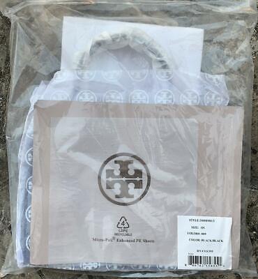 TORY BURCH Ella Tote MINI Bag Nylon Leather Black Free USPS Priority Authentic