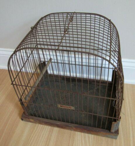 vintage CROWN decorative Bird Cage House Rustic Repurpose Decoration ALL METAL