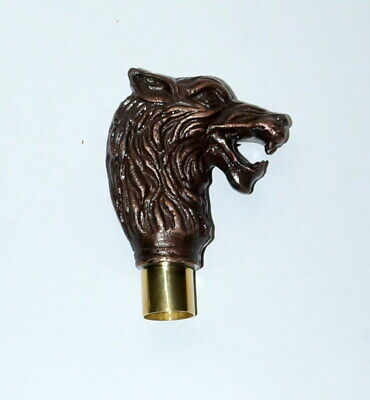 Antique Handle Wolf Head Style Handle Handmade For Walking Stick Cane Top Topper