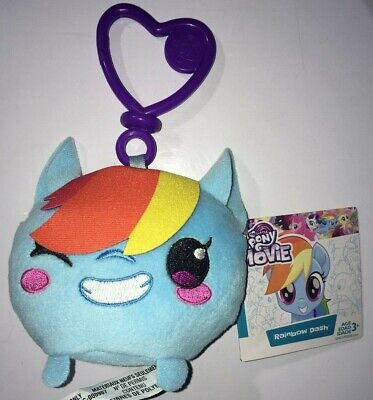 Rainbow Dash Movie (My Little Pony The Movie Rainbow Dash Clip And Go 3 Inch Plush  New)