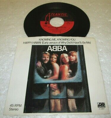 "ABBA KNOWING ME KNOWING YOU 45 7"" NM NEAR MINT US ATLANTIC VINYL LISTEN w/PS"