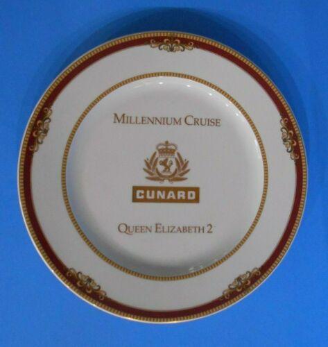 "QUEEN ELIZABETH 2 Millennium Cruise 12"" Porcelain Collector Plate CUNARD"
